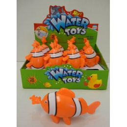 12 Units of Clown Fish Water Toy With Display Box - Summer Toys