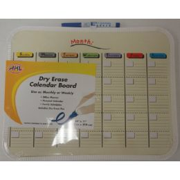 24 Units of Dry Erase Calendar Board - Dry erase