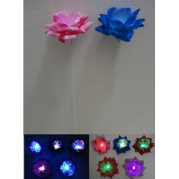 120 Units of Fiber Optic Rose Yard Stake - Garden Decor