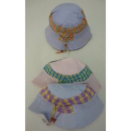 72 Units of Girls Bucket Hat [Plaid] - Bucket Hats