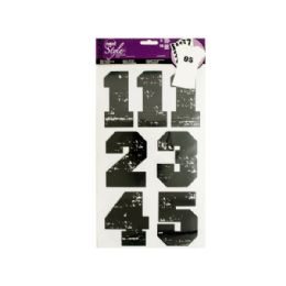 144 Units of IroN-On Black Numbers - Scrapbook Supplies