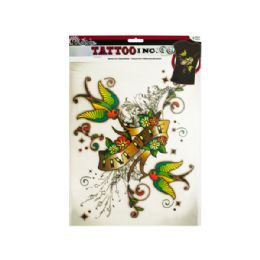 144 Units of Iron-On Live Free Tattoo Transfer - Tattoos and Stickers