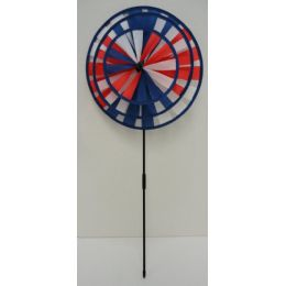 60 Units of Round Triple Wind Spinner-Americana - Wind Spinners