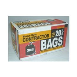 12 Units of Contractor Trash Bags - Garbage & Storage Bags