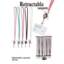 48 Units of RETRACTABLE LANYARDS - Jewelry Cords