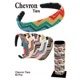 60 Units of CHEVRON TIARA - Headbands