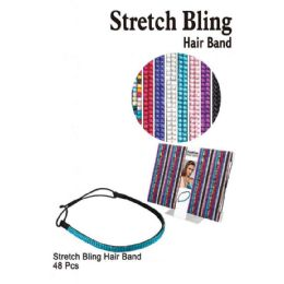 48 Units of STRETCH BLING HAIR BAND - Headbands