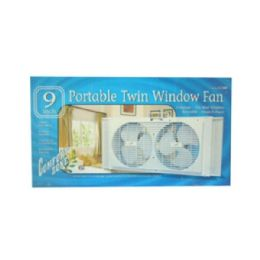 "6 Units of 9"" Twin Portable Window Fans - Electric Fans"