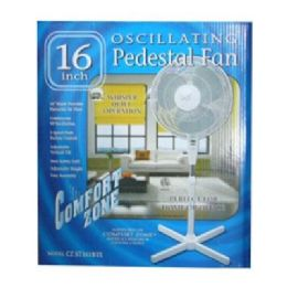 "6 Units of 16"" Ped Oscillating - Electric Fans"