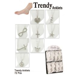 72 Units of Trendy Anklets - Ankle Bracelets