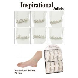 72 Units of Inspirational Anklets - Ankle Bracelets