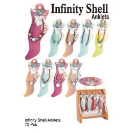 72 Units of Infinity Shell Anklets - Ankle Bracelets