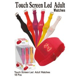 18 Units of TOUCH SCREEN LED ADULT WATCHES - Women's Watches