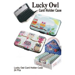 24 Units of Luck Owl Card Holder Case - Card Holders and Address Books