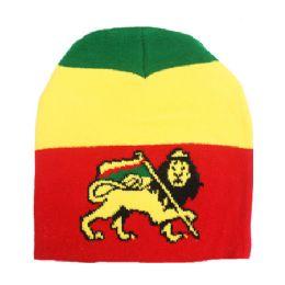 36 Units of Rasta Lion Winter Beanie - Winter Beanie Hats