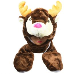 24 Units of ANIMAL HAT REINDEER - Costumes & Accessories