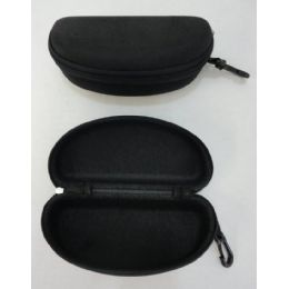 120 Units of Zippered Glasses Case [Solid Black] - Eyeglass & Sunglass Cases
