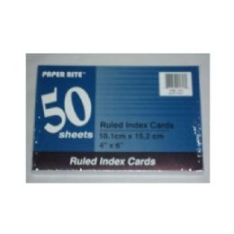 """72 Units of 50ct Ruled White Index Card 4x6"""" - Labels ,Cards and Index Cards"""