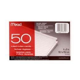 """72 Units of 4x6"""" 50ct Ruled Ruled Index Cards - Labels ,Cards and Index Cards"""