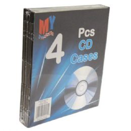 96 Units of Cd Case Plastic 4pk - CD and DVD Accessories