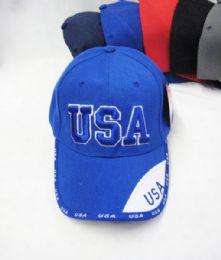 """24 Units of """"USA"""" Base ball Cap - Baseball Caps & Snap Backs"""