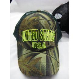 """48 Units of """"USA"""" Base ball Cap - Baseball Caps & Snap Backs"""