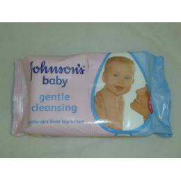 72 Units of J&J 56ct Baby Wipes - gentle - Baby Beauty & Care Items