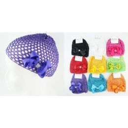 96 Units of Kids' Crochet Hat in Assorted Colors - Baby Accessories