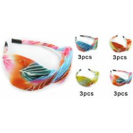 96 Units of Colorful Hairwrap Headband with Assorted Colors - Headbands