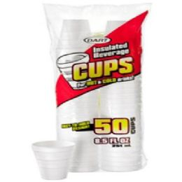 48 Units of 50ct 8.5oz Foam Cups - Disposable Cups