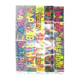 """96 Units of Birthday Banner L - Asst 13""""x11""""x5"""" - Party Banners"""