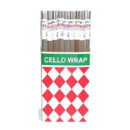 60 Units of Clear Cello Wrap 1.5Sq ft - Gift Wrap
