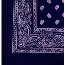 108 Units of Bandana Cotton Navy Paisley Fabric