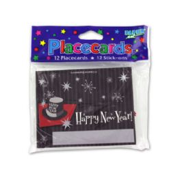 216 Units of New Year's placecards, pack of 12 - Party Novelties