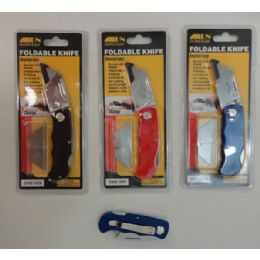 72 Units of Foldable Knife With 5pc Blades - Box Cutters and Blades