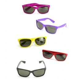 25 Units of Color Frame Sunglasses - Assorted 12ct - Costumes & Accessories
