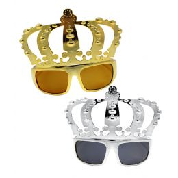 25 Units of Crown Sunglasses - Assorted 12ct - Costumes & Accessories
