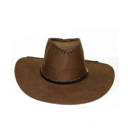 48 Units of Microsuede Cowboy Hat - Brown - Costumes & Accessories