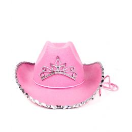 48 Units of Rhinestone Cowgirl Hat - Costumes & Accessories