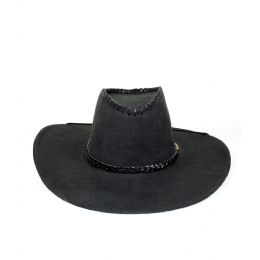 48 Units of Microsuede Cowboy Hat - Black - Costumes & Accessories