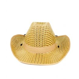 48 Units of Roll Up Straw Cowboy Hat - Costumes & Accessories