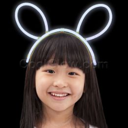 96 Units of Glow Headband - White - LED Party Supplies