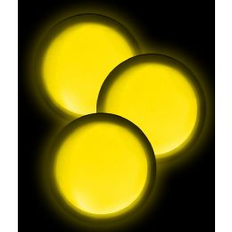 40 Units of Glow Badge Round - Yellow - LED Party Supplies