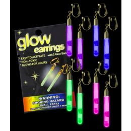 75 Units of Glow Pendant Earrings - Assorted - LED Party Supplies
