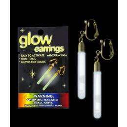 300 Units of Glow Pendant Earrings - White - LED Party Supplies