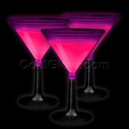 100 Units of Glow Martini Glass - Pink - LED Party Items