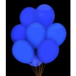 100 Units of LED 14 Inch Balloons - Blue 5 Pack - LED Party Items