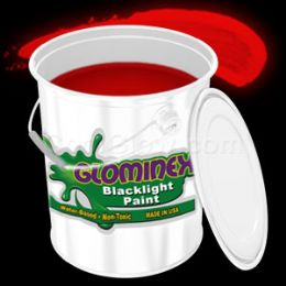 Glominex Blacklight UV Reactive Paint Gallon - Red - LED Party Items