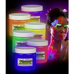Glominex Glow Body Paint 16oz Jars - Assorted