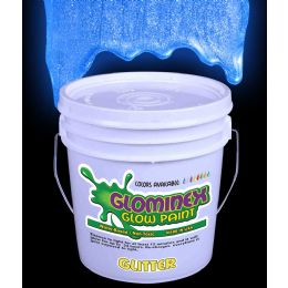 Glominex Glitter Glow Paint Gallon - Blue - LED Party Items